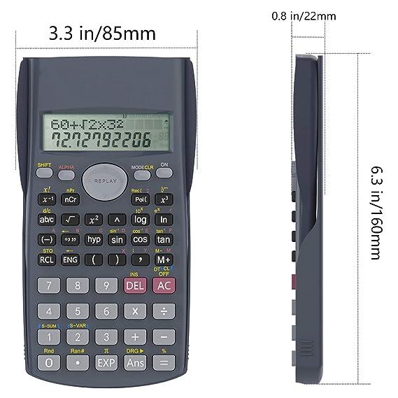 Helect Calculadora Científica de Ingeniería de 2 Líneas ...