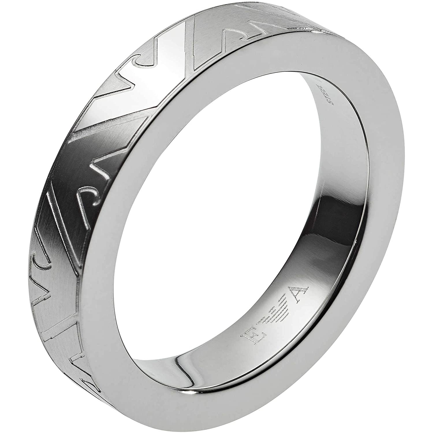 e056c7af82 Emporio Armani Men's Ring Stainless Steel Bi-Colour 63 two-tone ...