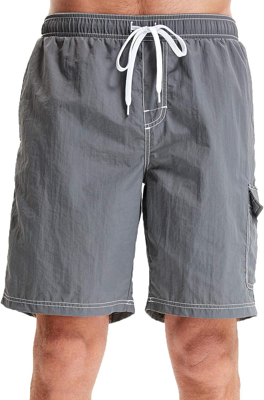 WORW Men's Quick Dry Board Shorts Swim Trunks