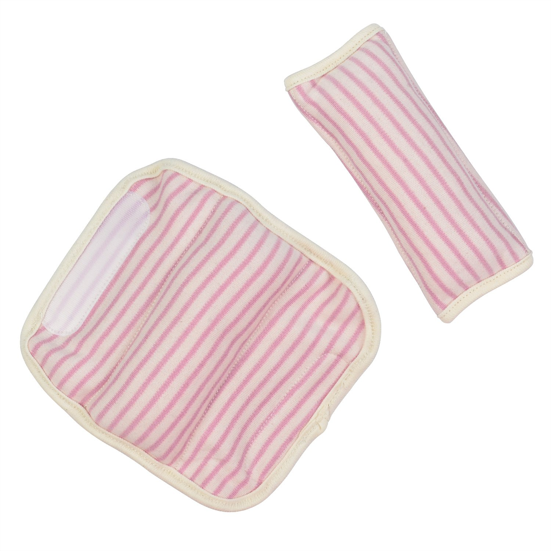 Amazon.com: DorDor & GorGor ORGANIC Baby Seat Belt Cushion, Extra Plush, 100% Cotton (Purple Striped): Baby