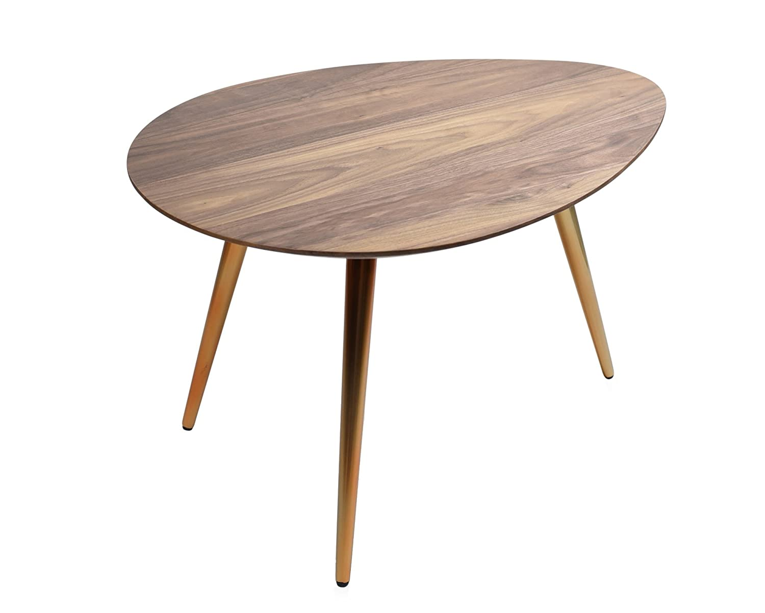 . Edloe Finch Small Coffee Table   Mid Century Modern Coffee Tables for  Living Room   Contemporary   Retro Low Walnut Wood Midcentury   Oval Round    25