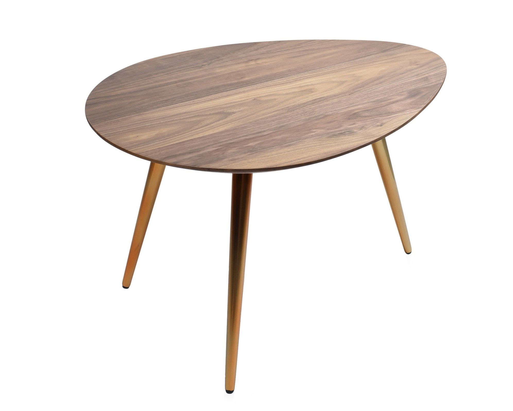 Edloe Finch Small Coffee Table - Mid Century Modern Coffee Tables for Living Room - Contemporary & Retro Low Walnut Wood Midcentury - Oval/Round - 25 inches by Edloe Finch