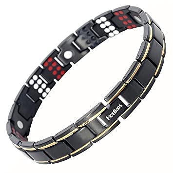 Wristbands Magnetic Therapy Devices Bio Magnetic Negative Ion Health Energy Anti-fatigue Weight Therapy Bracelets