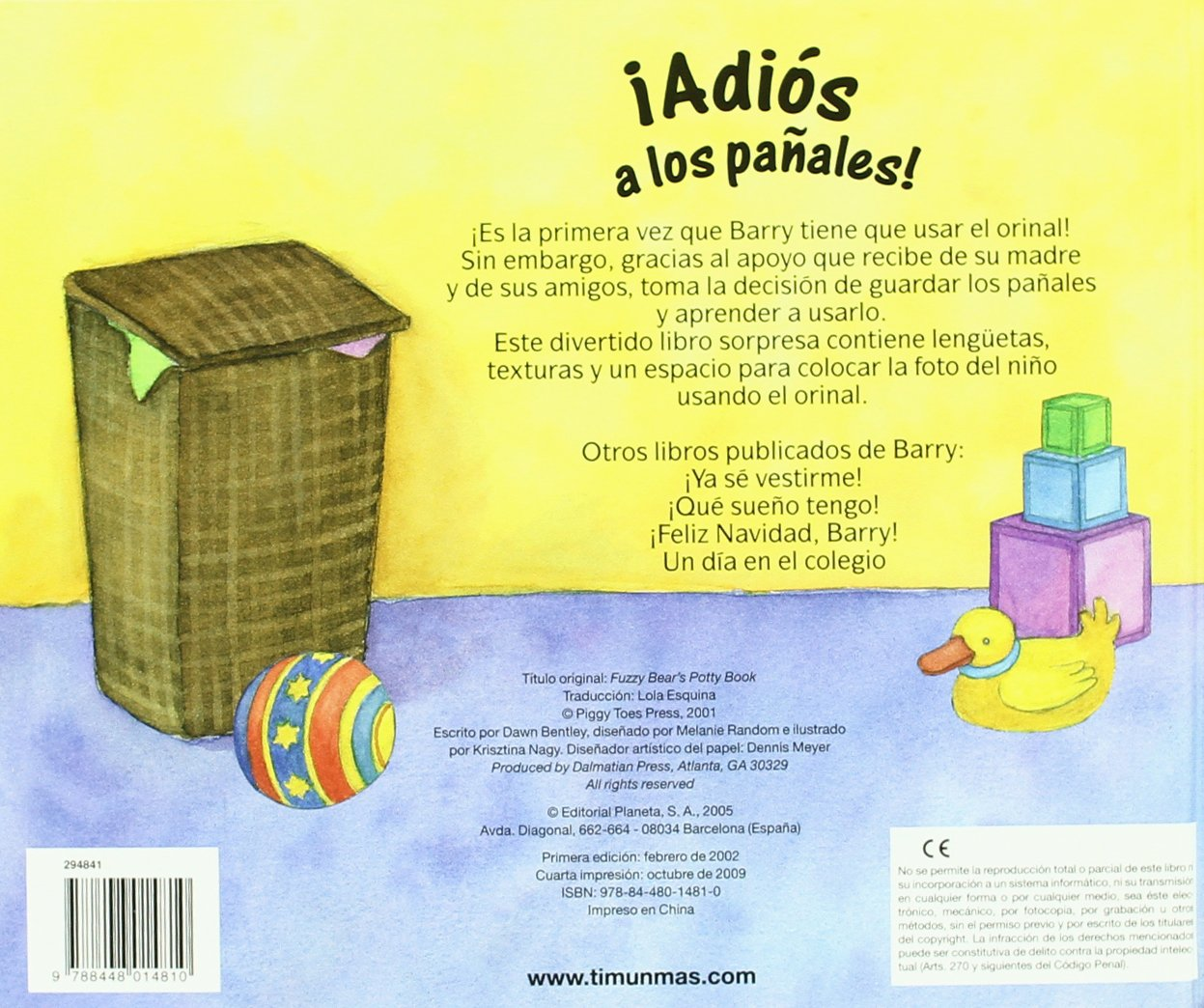 ¡Adiós a los pañales!: Dawn Bentley / Krisztina Kallai Nagy: 9788448014810: Amazon.com: Books