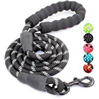 Dog Leash With Padded Handle (Medium And Large), Black, 5 Feet, mb-00d