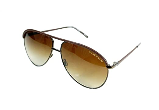 ec02e6f021c Amazon.com  ANDREW MARC AMP 452201 60mm Aviator Polarized Sunglasses ...