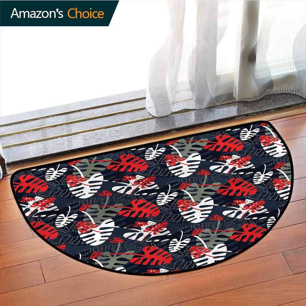Desptonmats alfombra de dormitorio tropical, palmas del océano ...