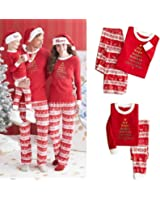 Amazing Closet Christmas Pyjamas Family Set Two Piece Deer Sleepwear