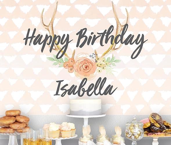 Top Amazon.com: Boho Birthday Banner for Girl, Dessert Table Backdrop  RJ21