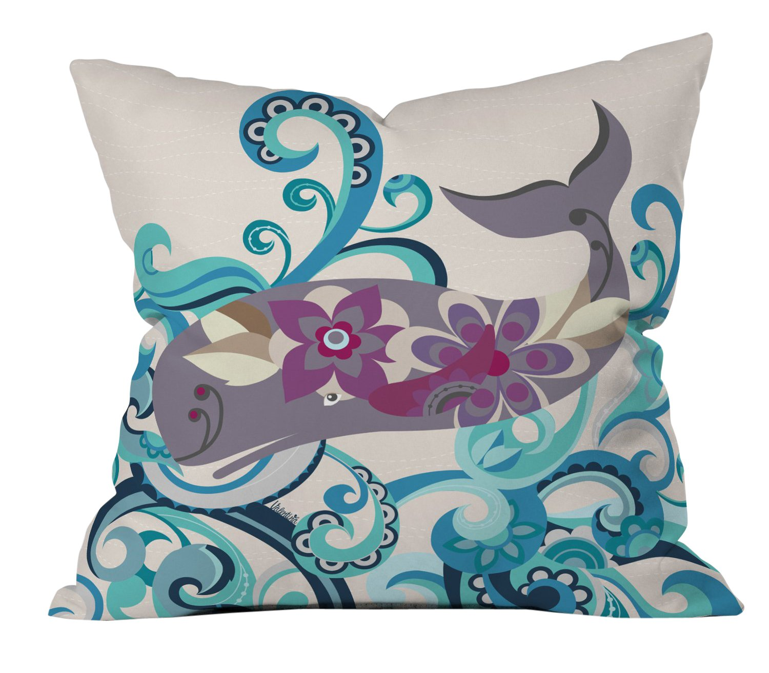 Deny Designs Valentina Ramos Hello Person Outdoor Throw Pillow 20 x 20