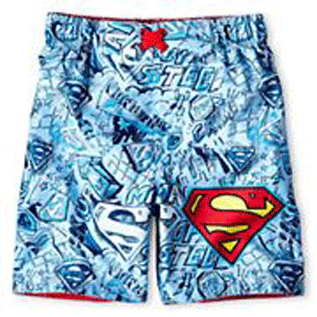 Superman Little Boys' Swim Trunks Bathing Suit