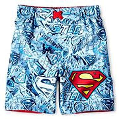 9a14035009 Amazon.com: Superman Little Boys' Swim Trunks Bathing Suit (3Y ...