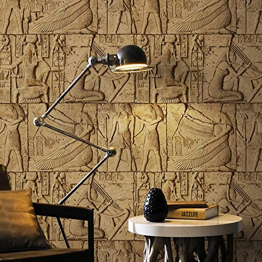 Cucsaistat Papel Pintado 3D Mural Antiguo Egipcio Escultura ...