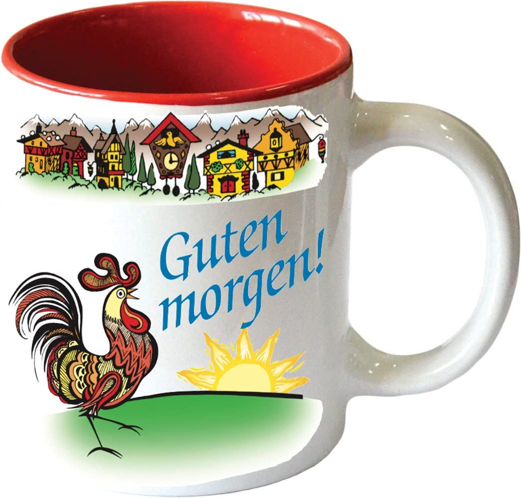 Guten Morgen Good Morning In German Colorful Ceramic Coffee Mug By Ehg 12 Oz