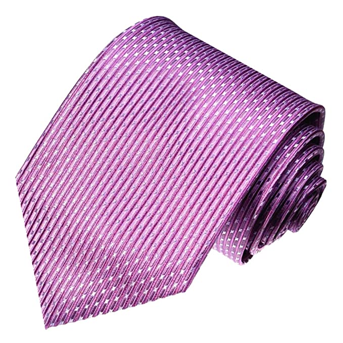 LORENZO CANA - Marcas corbata de seda 100%, lila púrpura puntos ...