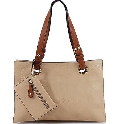 82aae872d6 LeahWard Sac à bandoulière 3 compartiments pour femmes Gros sacs à main en faux  cuir souple
