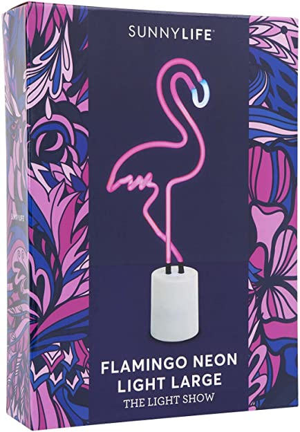 Flamingo Large Indoor Decorative Neon Light Figurine Tube Desk Lamp