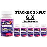 Stacker 3 XPLC 20 Capsules/ Bottle (Lot of 6 X Bottles) = 120 Capsules