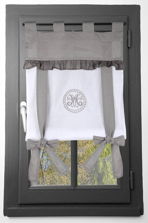 Lovely Casa Marie finestra, cotone, grigio, 45x 100cm STOF RA47665001