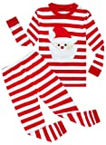 Amazon Price History for:Family Feeling Little Boys Girls' Red Stripe Christmas Pjs Cotton Pajama Sets