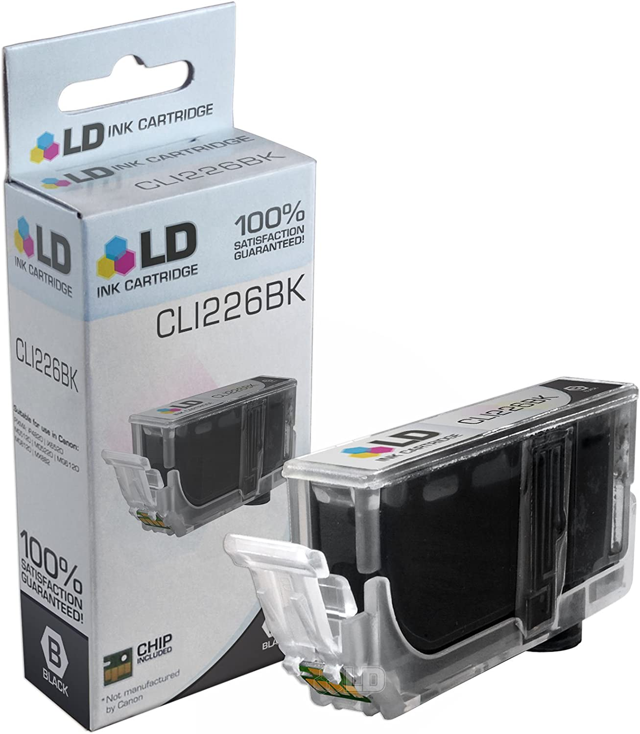 LD Compatible Ink Cartridge Replacement for Canon CLI-226BK 4546B001AA Dye Black