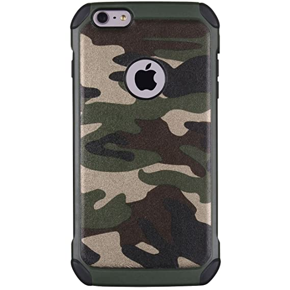 new styles dc383 e8845 iPhone 6 Case, iPhone 6S Case, MAXCURY Premium Heavy Duty Dual Layer  Military Army Camo Design Defender Camouflage Painting Pattern Shockproof  Rugged ...