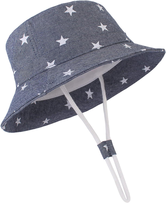 Zando Baby Girl Sun Hat Infant Wide Brim Hats Kids Summer Outdoor Baby Boy Hats Toddler Beach Cap Bucket Hat: Clothing