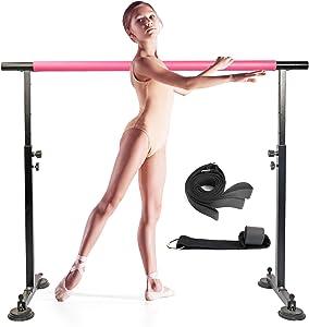 FBSPORT Ballet Barre, Adjustable Ballet Bar, Ballet Barre Portable for Home Kids Adults 5ft Portable Ballet Barre Stretching Dance Bar