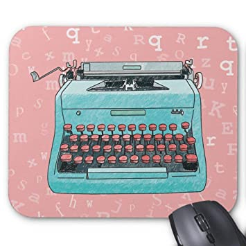 Alfombrilla para ratón con diseño de máquina de Escribir en Color Rosa: Amazon.es: Electrónica
