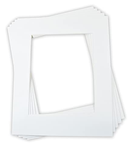 Color: Off-White Golden State Art with White Core Bevel Cut for 11x14 Photo 8-ply Backing Pack of 5 16x20 Picture Mats Mattes Clear Bags