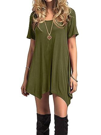 64743ca6 Century Star Womens Short Sleeve T-Shirt Dress Casual Loose Fit Tunic Dress  Cute Swing T-Shirt Dress for Women at Amazon Women's Clothing store: