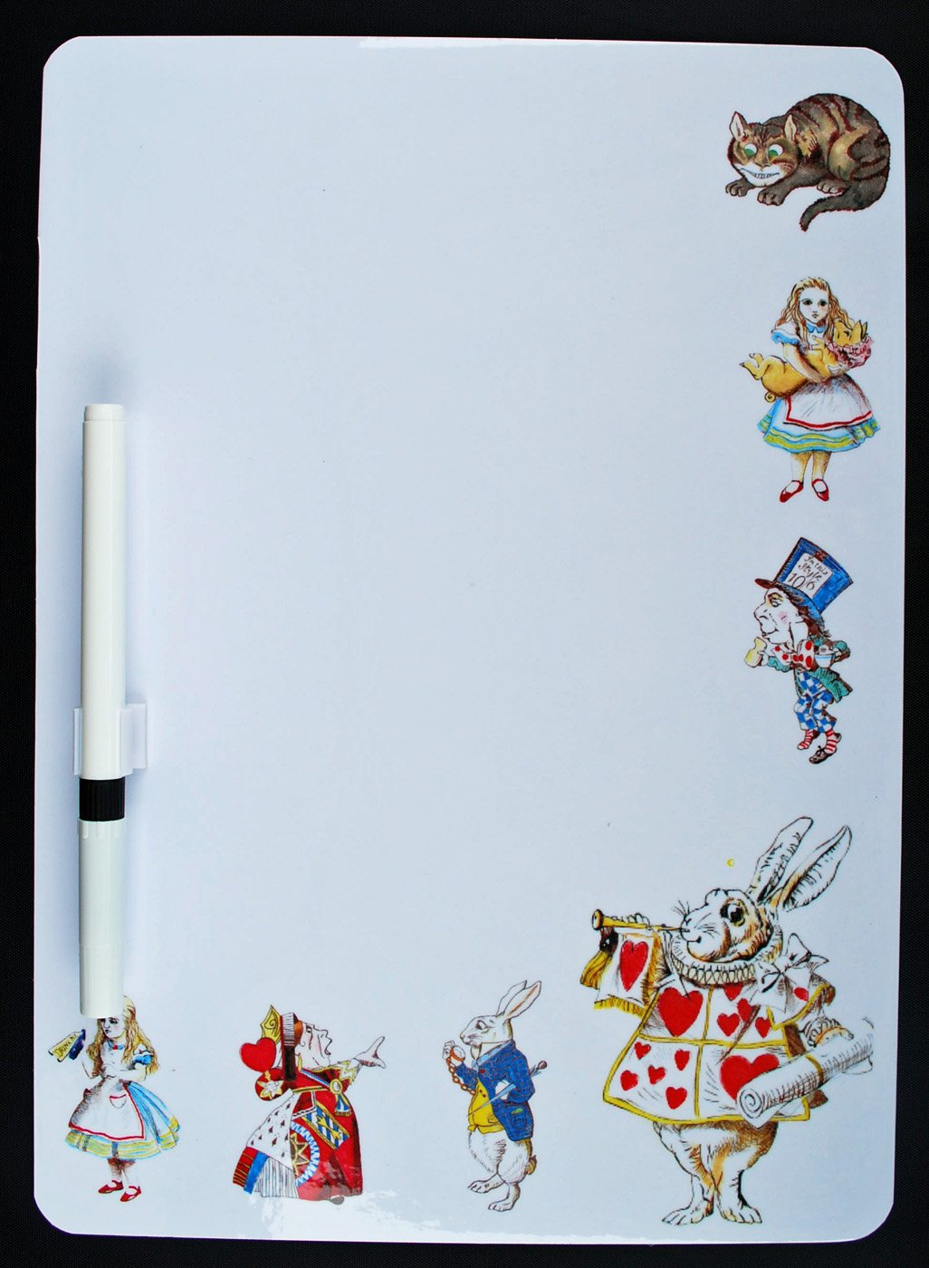 Alice in Wonderland White Rabbit Dry Wipe Memo Board - AW6