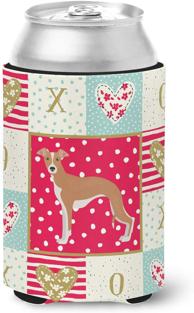 Caroline's Treasures Italian Greyhound #2 Love Can or Bottle Hugger cold-beverage-koozies, Multicolor