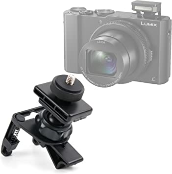 DC-TX2 DMC-LX10 DC-GF90 DURAGADGET Sturdy and Durable Car Air Vent Mount for The Panasonic Lumix DC-GF10 DMC -GX80 DC-FT7 // DC-TS7 DMC-LX15