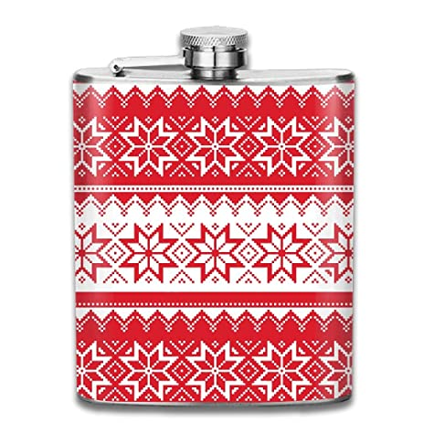 ugly christmas sweater pattern wallpaper stainless steel hip flask - Christmas Sweater Wallpaper