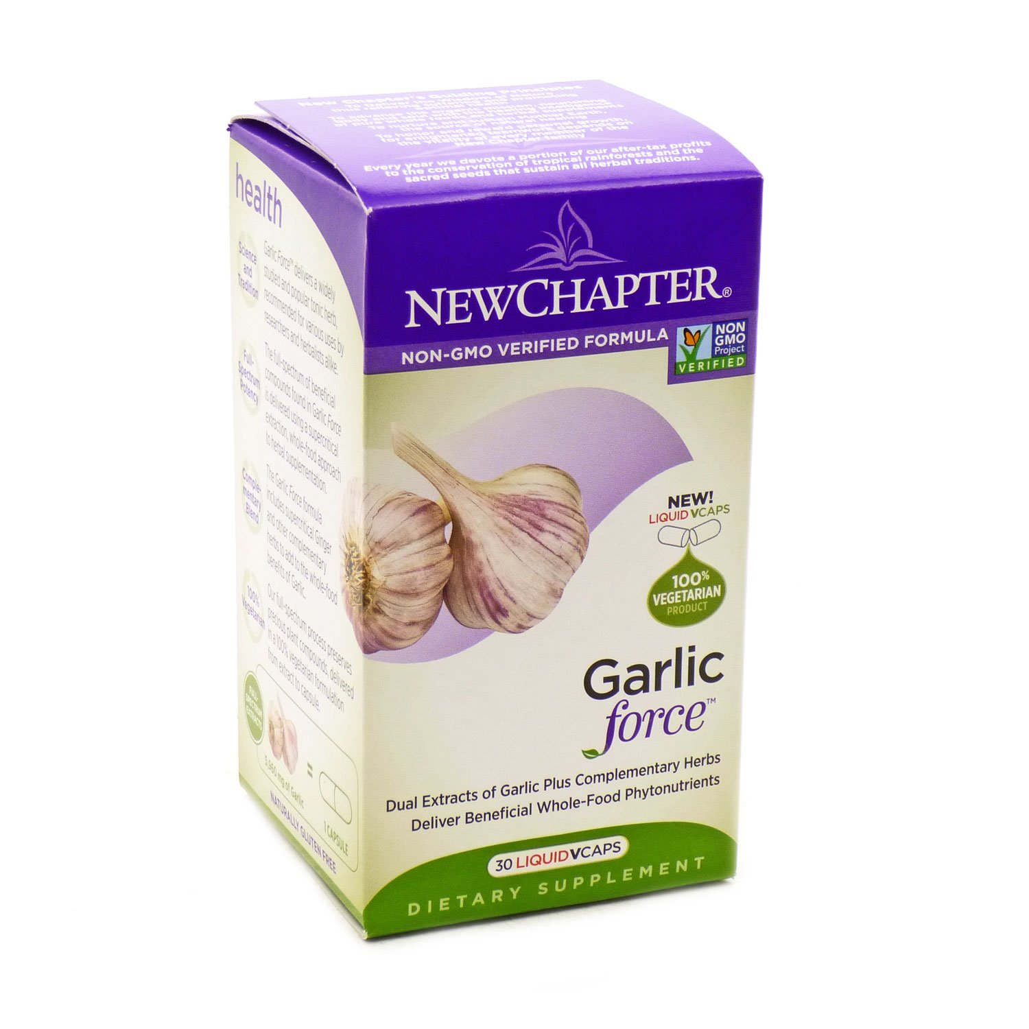 New Chapter Garlic Force, 30 Count (3 pack)