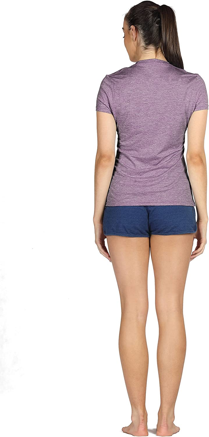 icyzone Workout Running Tshirts for Women Fitness Athletic Yoga Tops Exercise Gym Shirts Pack of 3