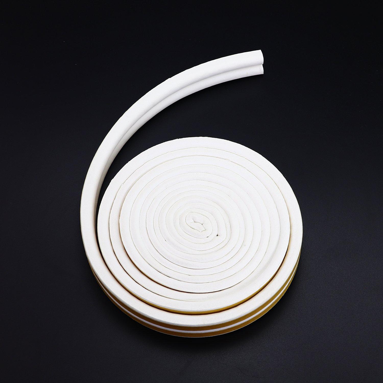 h porte fen/être anticollision Autocollant en caoutchouc Pingranso 2/rouleaux en forme de D 9/x 7,5/mm Joint en caoutchouc Bande m/ét/éo en mousse ruban adh/ésif EN D EPDM en mousse d/étanch/éit/é