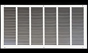26 W X 12 H Steel Return Air Grilles Sidewall And Ceiling Hvac Duct Cover White Outer Dimensions 27 75 W X 13 75 H Amazon Com