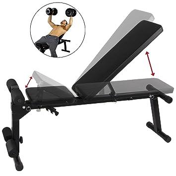 BB Sport Banco de pesas plegable banco de Musculación ajustable: Amazon.es: Deportes y aire libre