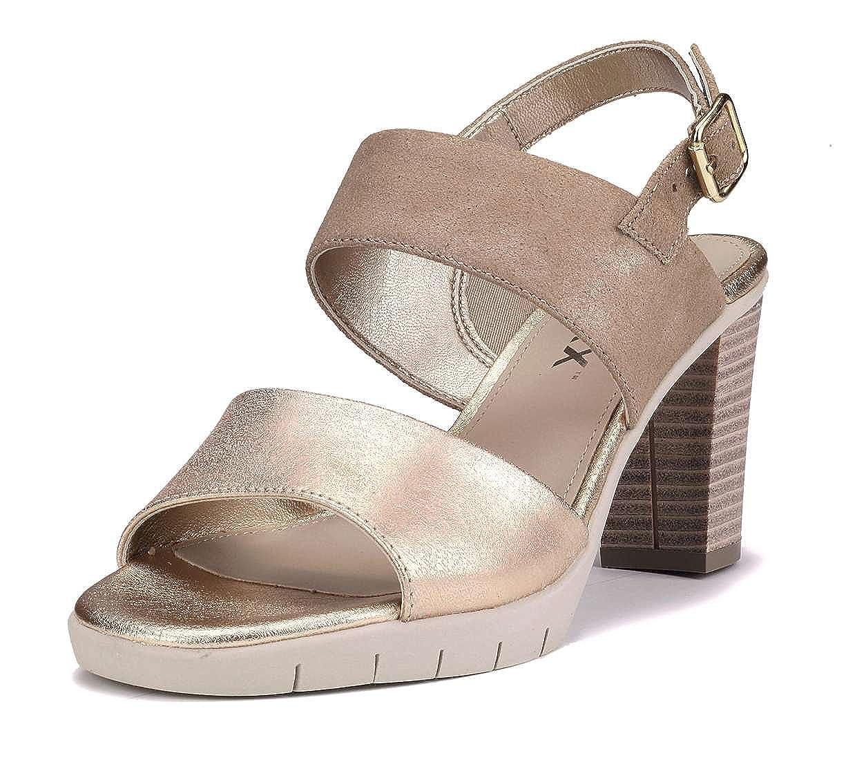 The FLEXX Yu N Me Sandalo Tacco Donna  Gold/Dune