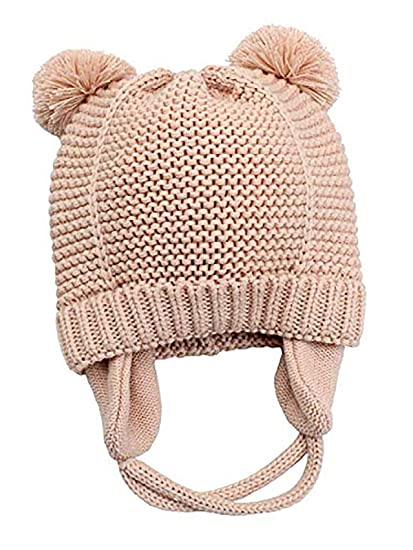 ec51dd69c2134 Century Star Super-Soft Winter fleeced stretch Children Earflap Hairballs  Chunky Toddler Unisex baby Hats