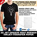 "INKJET TRANSFER PAPER FOR DARK FABRIC: NEENAH ""3G JET OPAQUE"" (8.5""X11"") 25Pk :)"