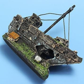 OSISTER7 - Adornos para Acuario de Acuario, pecera, Barco, Barco de Pesca, As Picture Show, Approx. 11cm*5cm*13cm: Amazon.es: Hogar