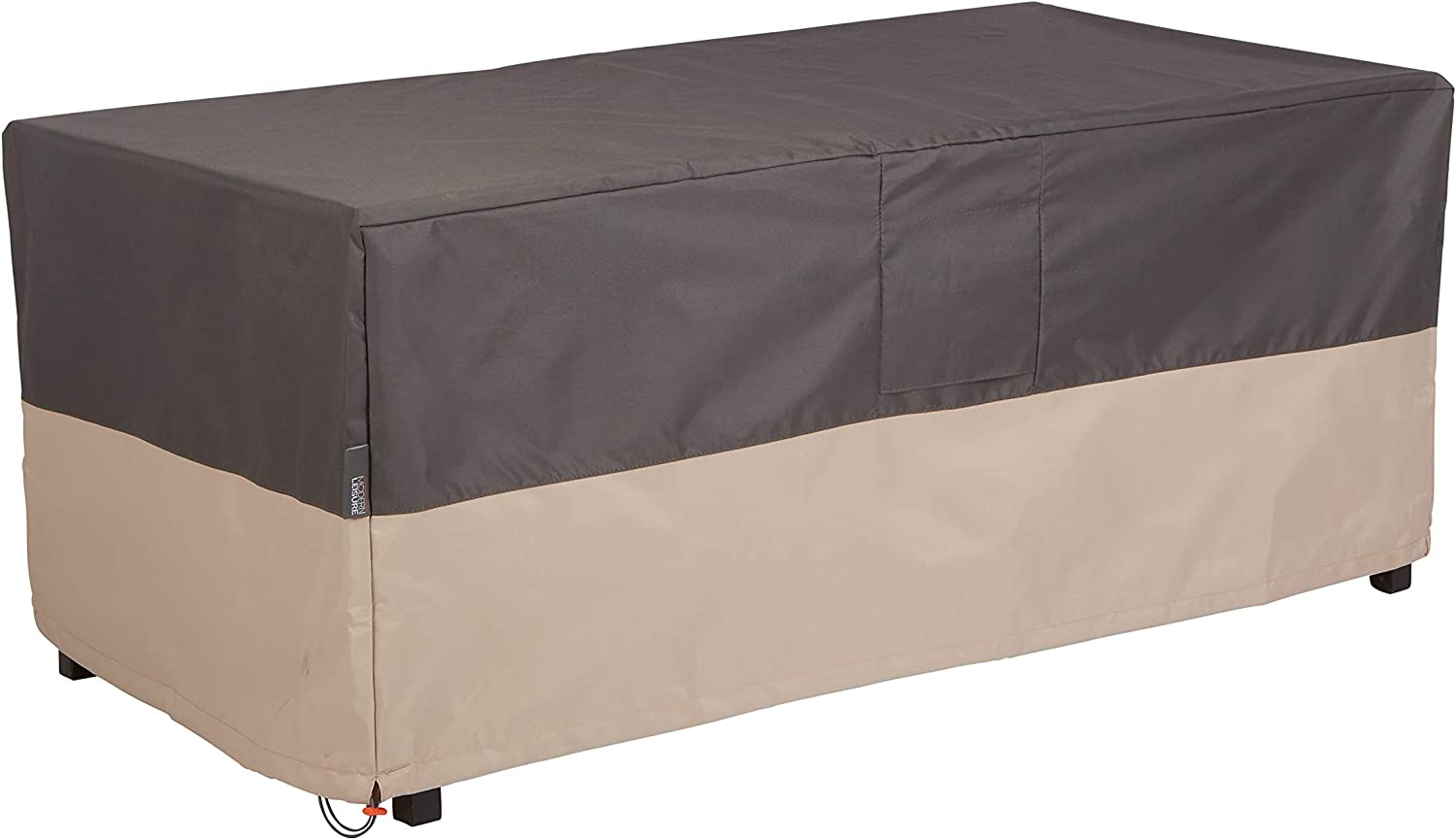 Modern Leisure, 48 L x 25 D x 18 H inches, Grey and Atmosphere 3014 Renaissance Ultralite Coffee Table//Ottoman Cover