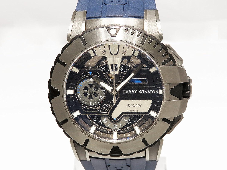 ハリーウィンストン HARRY WINSTON オーシャンスポーツ クロノグラフ リミテッドエディション 世界限定300本 OCSACH44ZZ006 ブラック文字盤 メンズ 腕時計 【中古】 B077RTSWC8