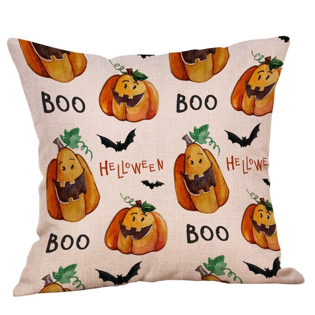 Leinen Sofa K/ürbis Geister Kissenbezug Home Decor DOGZI Halloween Kissen Bettw/äsche Weihnachten Sofa Dekokissen Kissen Weihnachten