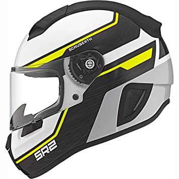 Schuberth SR2 deportes/Race Full Face casco de moto Lightning amarillo