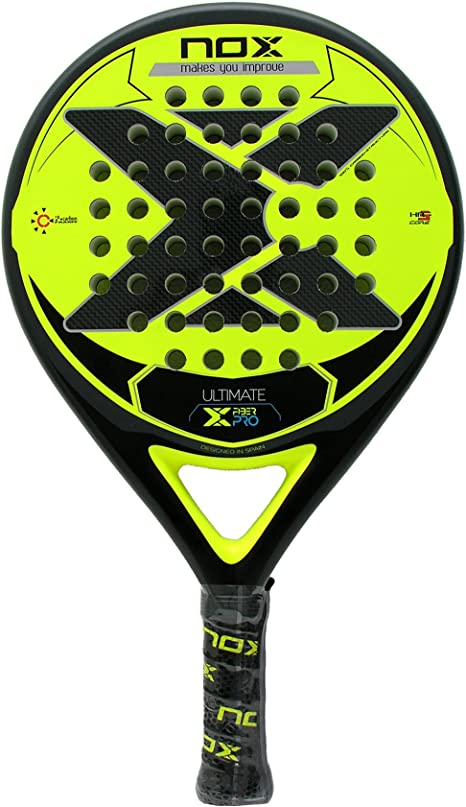 NOX Pala pádel Ultimate Fiber Pro Yellow: Amazon.es: Deportes y ...