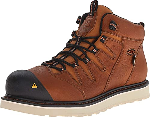 clients first 100% authenticated details for Keen 1013259 Men's Glendale WP Safety Boots - Peanut